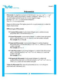 Polynomials | Assessment | Worksheets