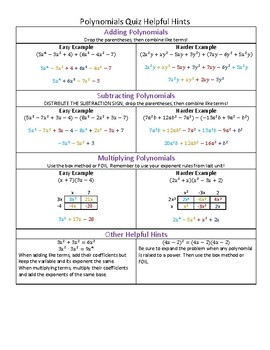 Subtraction Cheat Sheet Worksheets & Teaching Resources | TpT
