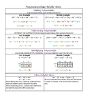 Polynomials Cheat Sheet