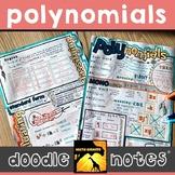 Polynomials Doodle Notes