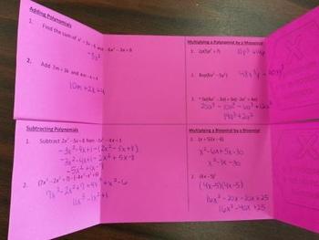 Polynomials Foldable