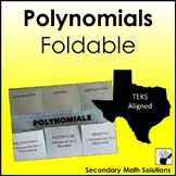 Polynomials Foldable (A10A, A10B, A10C, 2A.7B)