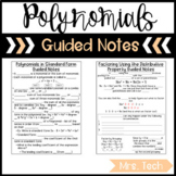 Polynomials Guided Notes - Digital