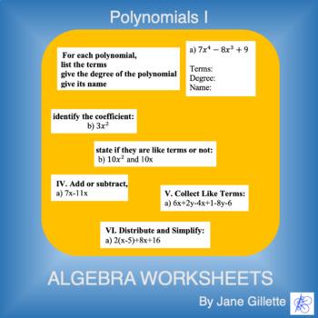 Polynomials I