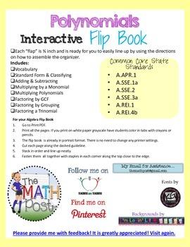 Polynomials Interactive Flip Book