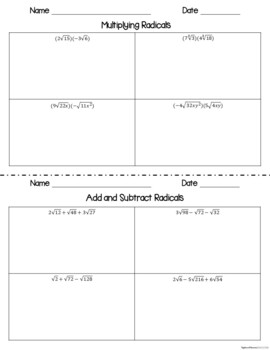 Polynomials - Interactive Notebook Activities & Scaffolded Notes