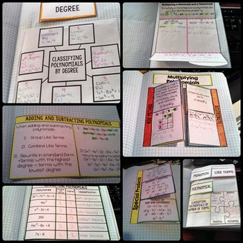 Polynomials Interactive Notebook Pages