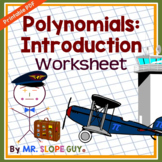 Polynomials Introduction Worksheet
