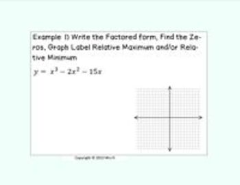 Polynomials Lesson 3 Graphing the Factored Form
