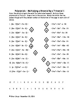 Polynomials - Multiplying Binomials by Trinomials