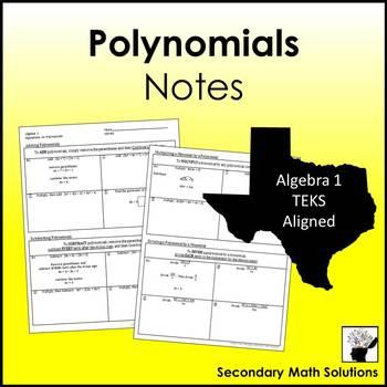 Polynomials Notes (A10A, A10B, A10C)
