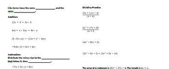 Polynomials Notes Book