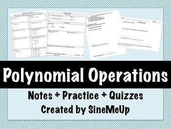 Polynomials Operations Mini Unit - Algebra 1