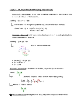 Polynomials Package