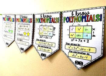 Polynomials Math Pennant Activity