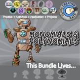 Monomials & Polynomials -- Algebra 1 Curriculum -- Essential Unit Bundle