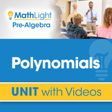 Polynomials | Pre Algebra Unit with Videos | Good for Dist