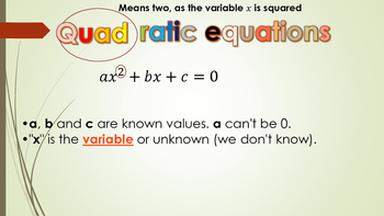 Polynomials-Quadratic Equations