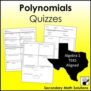 Polynomials Quizzes (A10A, A10B, A10C)