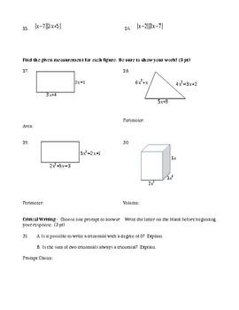 Polynomials Quiz