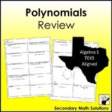 Polynomials Review (A10A, A10B, A10C)