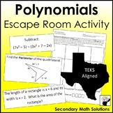 Polynomials Review Activity (Escape Room)