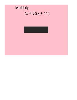 Polynomials Review Keep 'em honest game