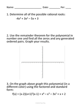 Polynomials Roots and Synthetic Division
