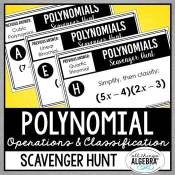 Polynomials Scavenger Hunt