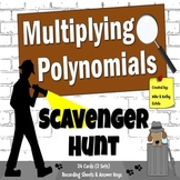 Polynomials Scavenger Hunt {Multiplying}