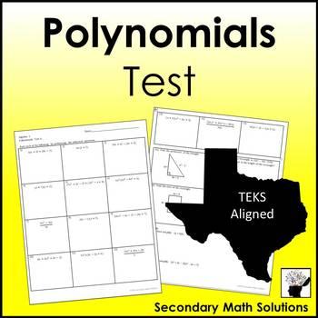 Polynomials Test (A10A, A10B, A10C)