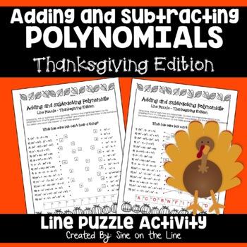 Polynomials Thanksgiving Puzzle Activity