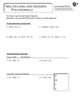 Polynomials Unit