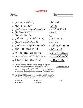 Polynomials (Unit 7) Test