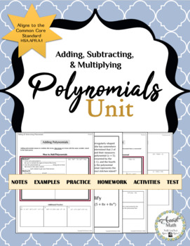 Polynomials Unit Bundle for Adding, Subtracting, and Multiplying