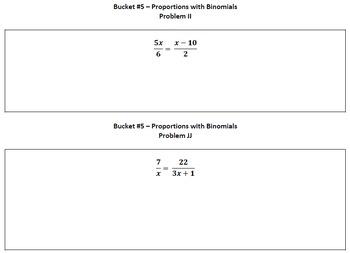 Polynomials Unit Review - Buckets Activity