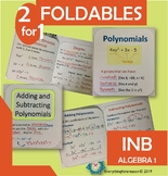 Polynomials: Vocabulary, Adding and Subtracting (2 Foldables)
