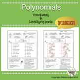 Polynomials: Vocabulary, Identifying Parts of Polynomials
