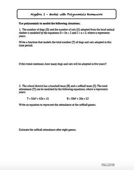 Polynomials Worksheet Bundle