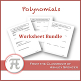 Polynomials Worksheet Bundle
