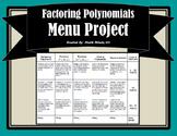 Polynomials and Factoring Menu Board Project