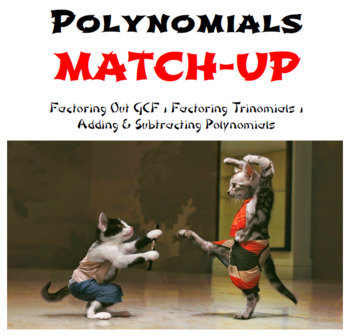 Polynomials and Factoring Partner Worksheets: Match-Up
