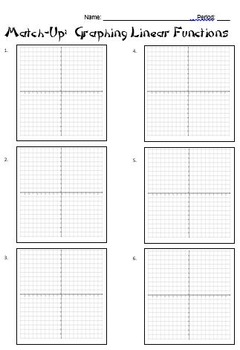 Quadratic Formula and Graphing Parabolas Partner Worksheets: Match-Up