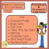Polynomials and Polynomial Functions Algebra 2 Bundle