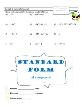 Polynomials - classifying, adding/subtracting