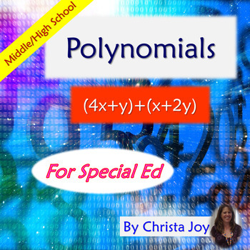 Polynomials for Special Education with lesson plans
