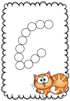 Pom Pom Alphabet Letter Formation Mats