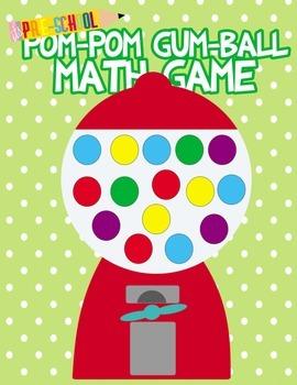 Pom Pom Bubble Gum Math game