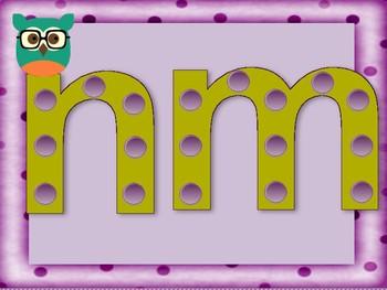 Pom-Pom Initial Sounds Game for n & m