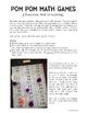 Pom Pom Math Games for Partners & Math Centers (Grade 2)